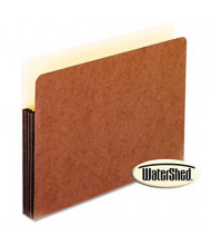 """Pendaflex Letter 3-1/2"""" Expansion Straight Tab Watershed Folder, Redrope"""