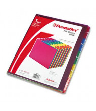 Pendaflex 1/5 Top Tab Letter 31-Day File Guides, Assorted, 1 Set