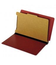 Pendaflex 2-Section Letter Pressboard 25-Point Dual Tab Classification Folders, Red, 10/Box