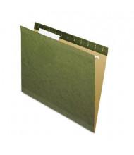 Pendaflex Reinforced Letter Hanging File Folders, Green, 25/Box