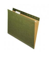 Pendaflex Reinforced Legal 1/5 Tab Hanging File Folders, Green, 25/Box