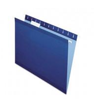 Pendaflex Letter Reinforced Hanging File Folders, Navy, 25/Box