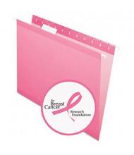 Pendaflex Letter Reinforced Hanging File Folders, Pink, 25/Box