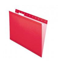 Pendaflex Letter Reinforced Hanging File Folders, Red, 25/Box