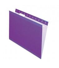 Pendaflex Letter Reinforced Hanging File Folders, Violet, 25/Box