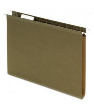 """Pendaflex Letter 1"""" Box Bottom Hanging File Folders, Green, 25/Box"""