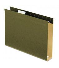"""Pendaflex Letter 2"""" Box Bottom Hanging File Folders, Green, 25/Box"""
