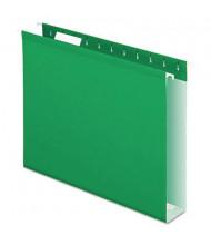 "Pendaflex Letter 2"" Box Bottom Hanging File Folders, Bright Green, 25/Box"
