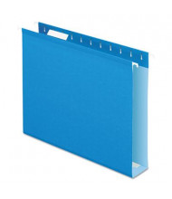 "Pendaflex Letter 2"" Box Bottom Hanging File Folders, Blue, 25/Box"