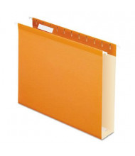 "Pendaflex Letter 2"" Box Bottom Hanging File Folders, Orange, 25/Box"