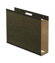 """Pendaflex Letter 3"""" Box Bottom Hanging File Folders, Green, 25/Box"""