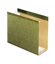 """Pendaflex Letter 4"""" Box Bottom Hanging File Folders, Green, 25/Box"""