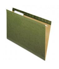 Pendaflex Reinforced Legal 1/3 Tab Hanging File Folders, Green, 25/Box
