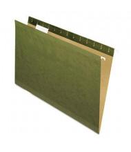 Pendaflex Reinforced Legal Hanging File Folders, Green, 25/Box