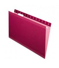 Pendaflex Legal Reinforced Hanging File Folders, Burgundy, 25/Box