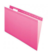 Pendaflex Legal Reinforced Hanging File Folders, Pink, 25/Box
