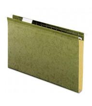 "Pendaflex Legal 1"" Box Bottom Hanging File Folders, Green, 25/Box"
