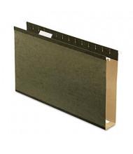 "Pendaflex Legal 2"" Box Bottom Hanging File Folders, Green, 25/Box"