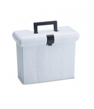 """Pendaflex 6-1/2"""" D Letter Plastic Portafile File Storage Box, Granite"""