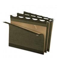 Pendaflex Ready-Tab Reinforced Letter 1/5 Tab Hanging File Folders, Green, 25/Box