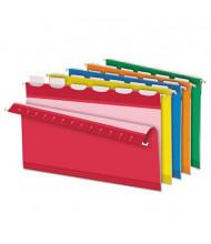 Pendaflex Ready-Tab Reinforced Legal 1/5 Tab Hanging File Folders, Assorted Colors, 20/Box
