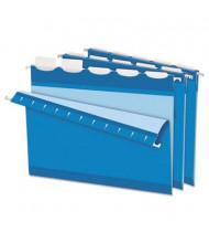 Pendaflex Ready-Tab Reinforced Letter 1/5 Tab Hanging File Folders, Blue, 25/Box