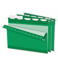 Pendaflex Ready-Tab Reinforced Letter 1/5 Tab Hanging File Folders, Bright Green, 25/Box