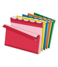 """Pendaflex Ready-Tab Reinforced Letter 2"""" Box Bottom Hanging File Folders, Assorted Colors, 20/Box"""