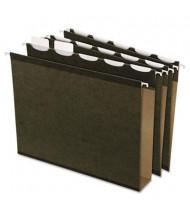 "Pendaflex Ready-Tab Reinforced Letter 2"" Box Bottom Hanging File Folders, Green, 20/Box"