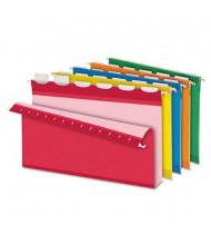 "Pendaflex Ready-Tab Reinforced Legal 2"" Box Bottom Hanging File Folders, Assorted Colors, 20/Box"