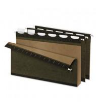 "Pendaflex Ready-Tab Reinforced Legal 2"" Box Bottom Hanging File Folders, Green, 20/Box"