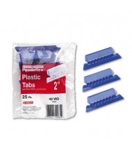 "Pendaflex Pliable 1/5 Tab 2"" Hanging File Tabs with Inserts, Violet/White, 25/Pack"