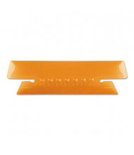 "Pendaflex 1/3 Tab 3-1/2"" Hanging File Tabs & Inserts, Orange/White, 25/Pack"