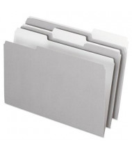 Pendaflex 1/3 Cut Tab Legal Interior File Folder, Gray, 100/Box