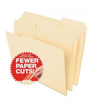 Pendaflex CutLess 1/3 Cut Tab Letter File Folder, Manila, 100/Box