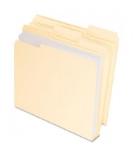 Pendaflex CutLess & WaterShed 1/3 Cut Tab Letter File Folder, Manila, 50/Box