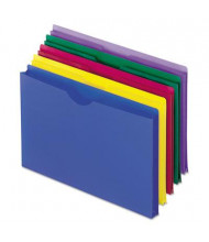 "Pendaflex 1"" Expansion Legal Poly File Jackets, Assorted, 5-Pack"