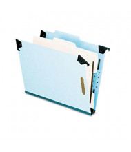 Pendaflex 4-Section Letter Pressboard 25-Point Hanging Classification Folder, Light Blue