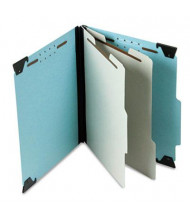 Pendaflex 6-Section Letter Pressboard 25-Point Hanging Classification Folder, Light Blue