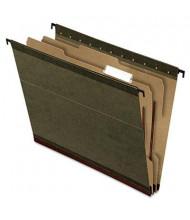 Pendaflex 4-Section SureHook Letter Hanging Divided Folders, Green, 10/Box