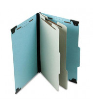 Pendaflex 6-Section Legal Pressboard 25-Point Hanging Classification Folder, Light Blue