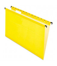Pendaflex SureHook Legal Hanging Folders, Yellow, 20/Box