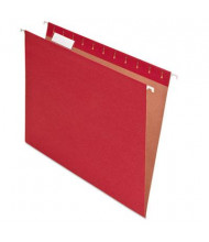 Pendaflex Earthwise Recycled Letter Hanging File Folders, Red, 25/Box