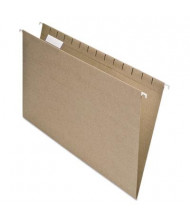 Pendaflex Earthwise Recycled Legal Hanging File Folders, Natural, 25/Box