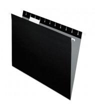 Pendaflex Letter Hanging File Folders, Black, 25/Box