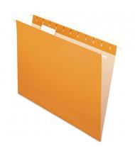 Pendaflex Letter Hanging File Folders, Orange, 25/Box