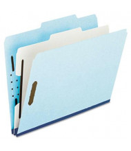 Pendaflex 6-Section Letter Pressboard 25-Point Classification Folders, Blue, 10/Box