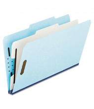 Pendaflex 4-Section Legal Pressboard 25-Point Classification Folders, Blue, 10/Box