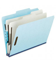 Pendaflex 6-Section Legal Pressboard 25-Point Classification Folders, Blue, 10/Box