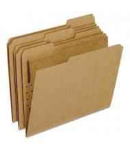 Pendaflex 1/3 Cut Tab 1-Fastener Letter File Folder, Kraft, 50/Box